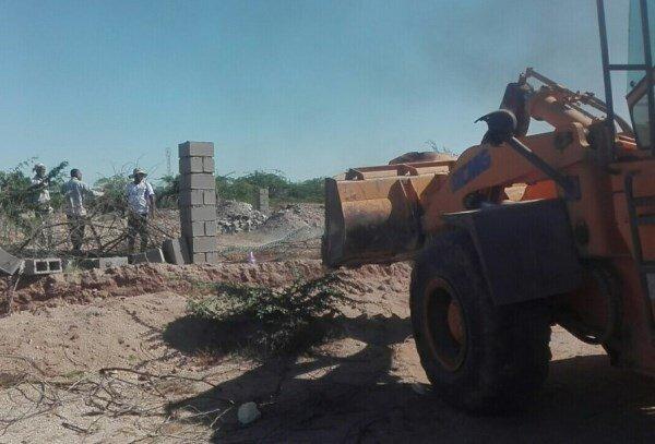 رفع تصرف ۱۶ هزارمترمربع اراضی موقوفات در لامرد