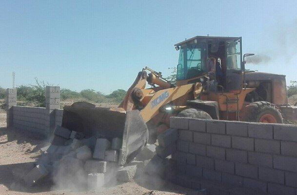 ۳۰۰۰ مترمربع از اراضی ملی در چالوس خلع ید شد