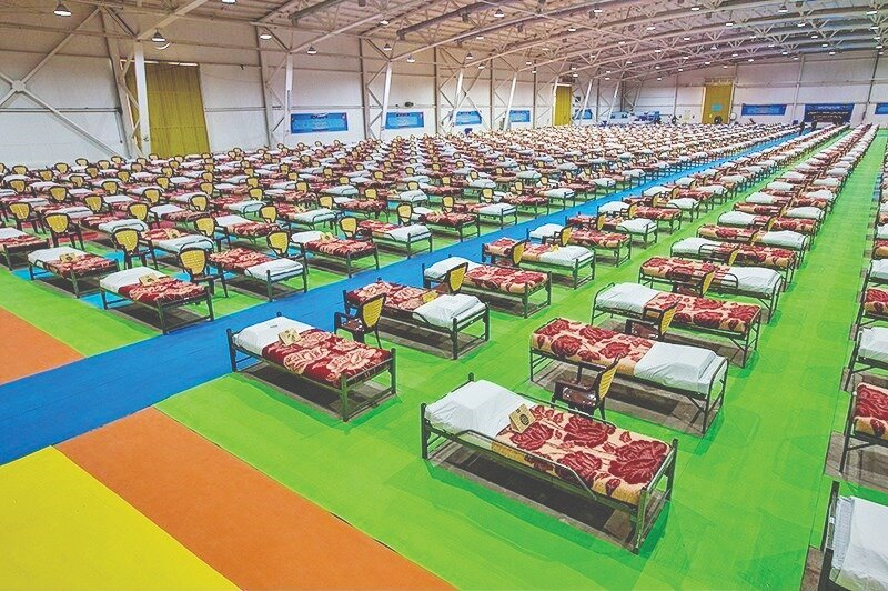 Fairgrounds converted into 2,000-bed hospital within 48 hours