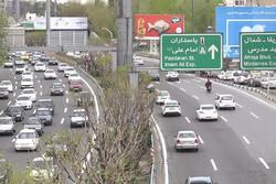 وضعیت ترافیکی معابر بزرگراهی و اصلی تهران در آخرین روز تابستان
