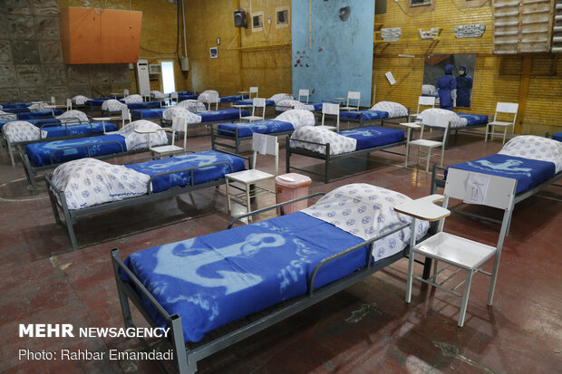 Navy's mobile hospital for COVID-19 patients in Bandar Abbas