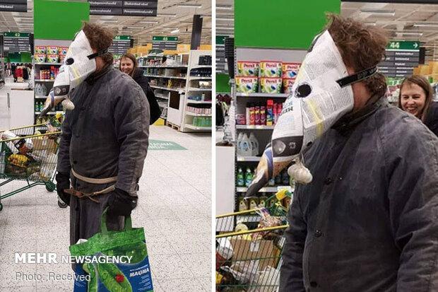 Birbirinden ilginç maskeler görenleri şaşırtıyor!