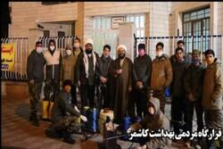 ضدعفونی مسیرهای پرتردد شهرستان کاشمر برای جلوگیری از شیوع کرونا