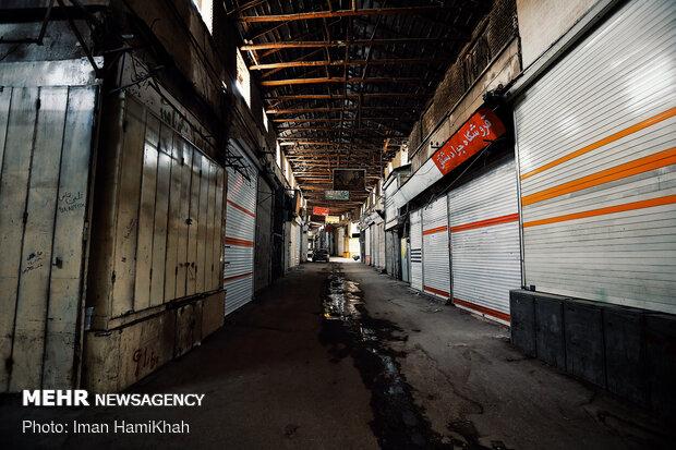 Hamedan bazaar, void of people, amid coronavirus outbreak