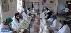 Rural handicrafts workshop readjusted to produce face masks