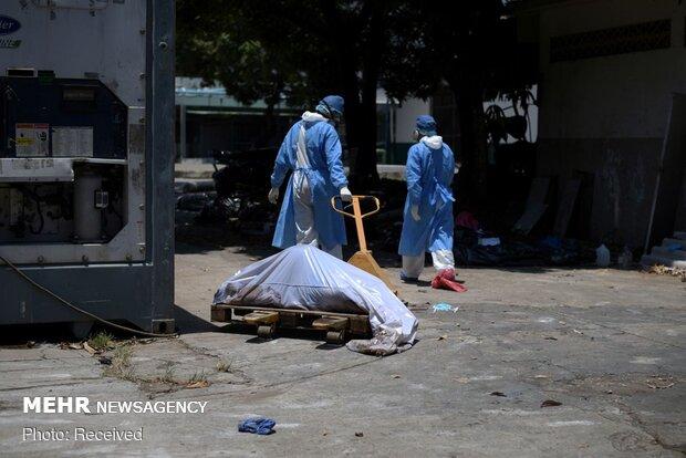 ایکوا ڈور میں کورونا وائرس سے مرنے والوں کی لاشیں سڑکوں پر پڑی ہیں