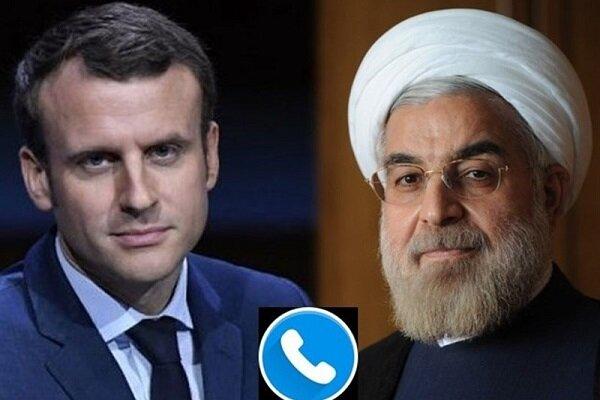 ایرانی صدر کی فرانسیسی صدر سےگفتگو/ امریکی اقدام سکیورٹی کونسل کی قرارداد کے خلاف