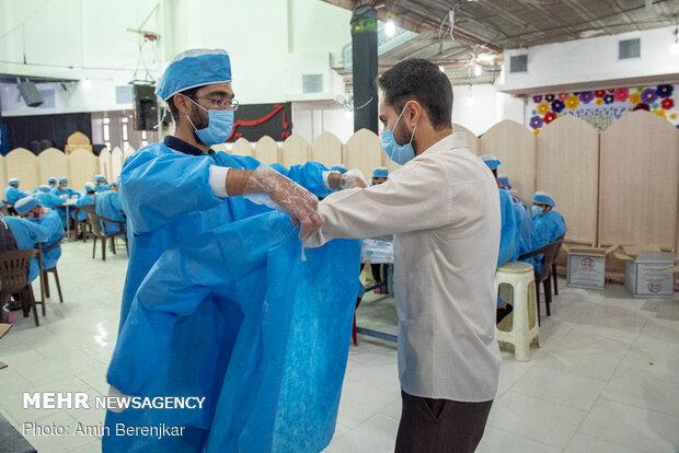 تولید ماسک در کانون فرهنگی رهپویان وصال شیراز
