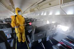 Kiş Havalimanı'nda kovid-19'a karşı dezenfeksiyon çalışmaları
