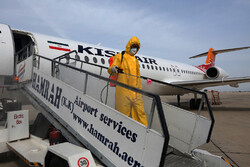 Aircraft disinfection in Kish Airport