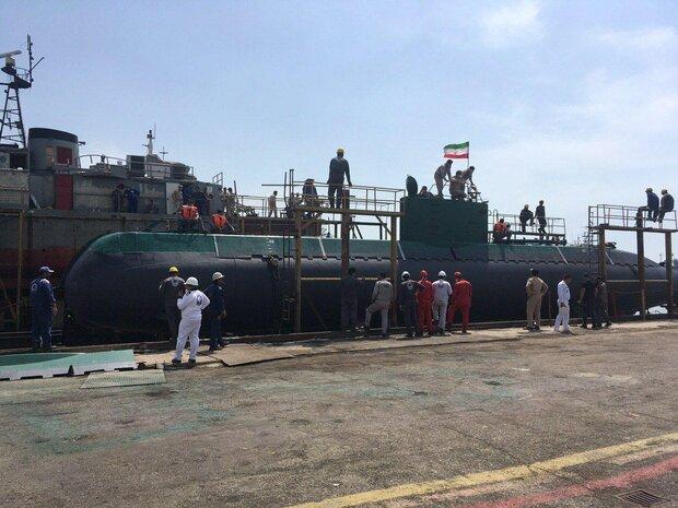 Overhauled Ghadir submarine joins Iranian Navy