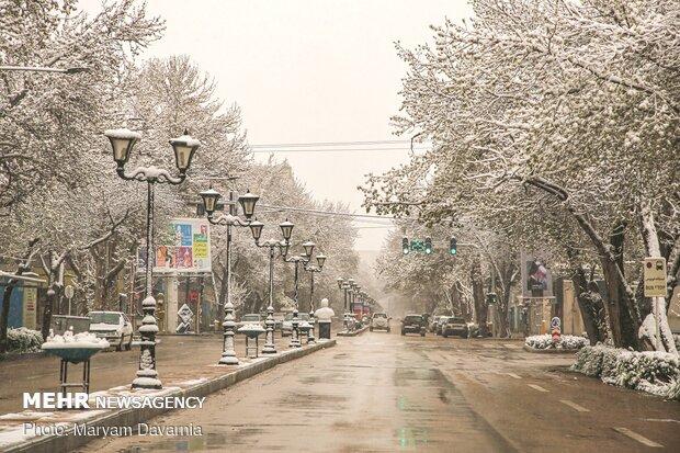Rare spring snow whitens Bojnourd