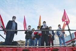 حرکت کاروانهای شادی غدیر در خیابانهای یزد