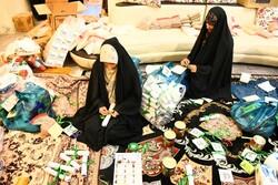 آبادان میں نیازمند افراد کے درمیان غذائی اور طبی اشیاء کی تقسیم