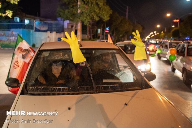 کاروان های جشن خیابانی ولادت امام زمان(عج) در شیراز