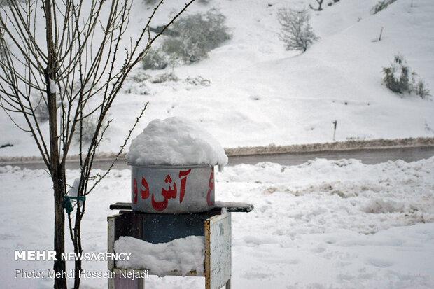 Sringtime snow in Heyran pass, NW Iran