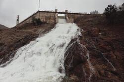 Hamedan Dam in western Iran overflows