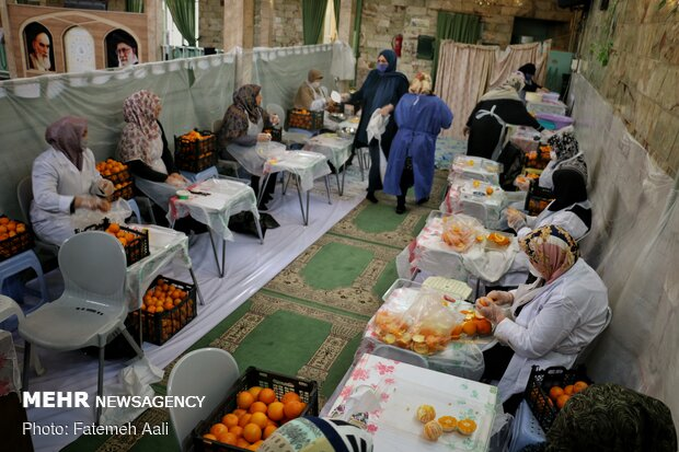 إعداد العصائر الطبيعية للمرضى كورونا في المساجد