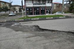 وضعیت نامناسب آسفالت خیابانهای آستارا
