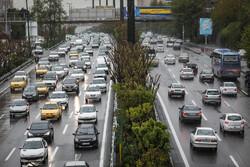 تہران کی شاہراہوں پر ٹریفک کا منظر