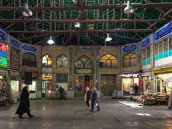 سقف ریخته شده بازار امین السلطان با مشارکت کسبه مرمت میشود