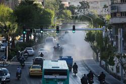 تہران کے ولیعصر اسکوائرپرحیاتیاتی دفاع کی مشق
