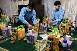 Daily distribution of foodstuff to underprivileged in Mashhad