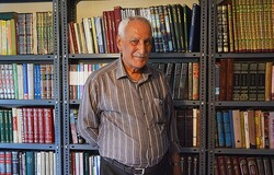 Eminent Iranologist Hassan Anusheh in an undated photo. (IBNA/Sobhan Farajvan)