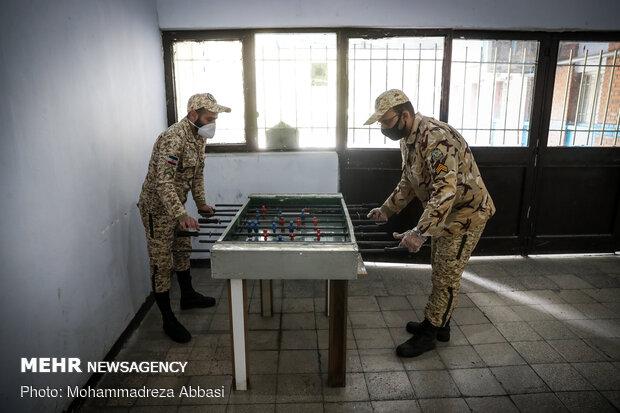 إجراءات اوقاية من تفشي كورونا في ثكنات الجيش
