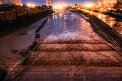 قم میں شدید بارش کے باعث سیلاب کی کیفیت