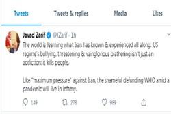 Dışişleri Bakanı Zarif'ten Trump'ın DSÖ kararına tepki