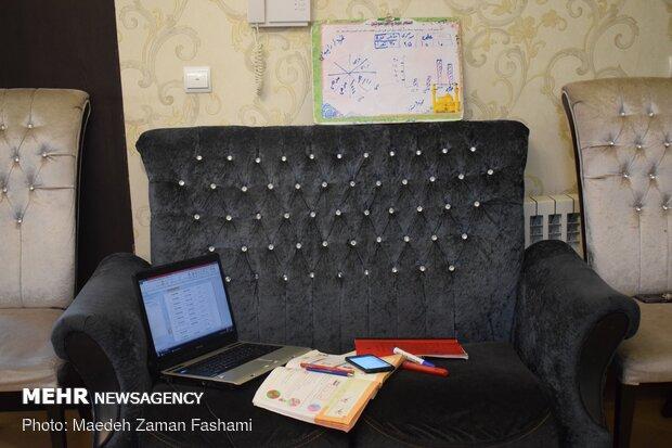 معلمی آنلاین در خانه