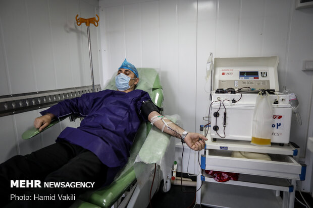 Plasma therapy trials for COVID-19 patients in Iran