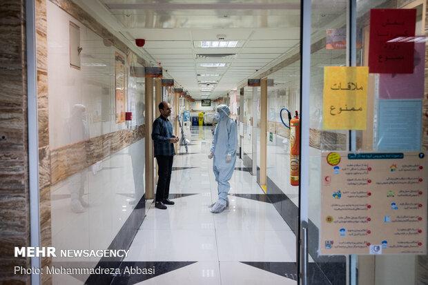 عین على جهود الطاقم الطبي في مشفى بشمال طهران