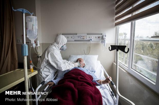 بخش ویژه کرونا در بیمارستان شهداء تجریش