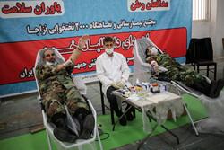 فوج کے جوانوں کا یوم فوج کی مناسبت سے خون کا عطیہ