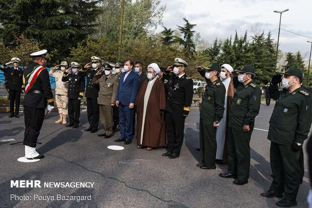 Health service parade in Rasht on National Army Day