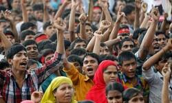 بنگلہ دیش میں لاک ڈاؤن کے دوران ہزاروں مزدوروں کا احتجاج
