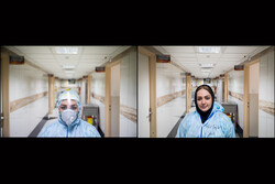 Iranian medical staff in fight against Covid-19
