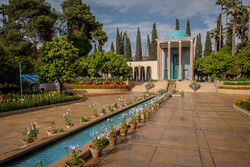 Empty mausoleum of Saadi Shiraz amid COVID-19 pandemic
