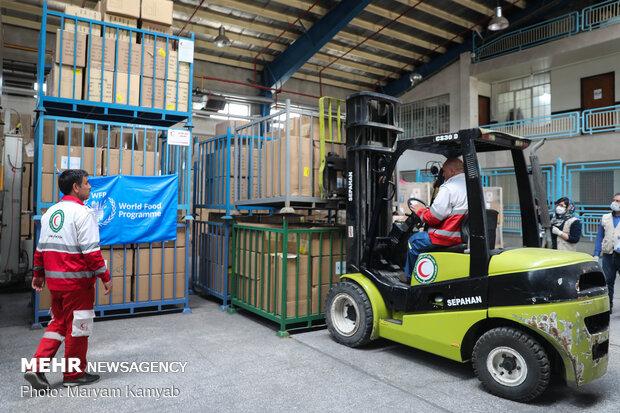 World Food Programme donating humanitarian aid to Iran
