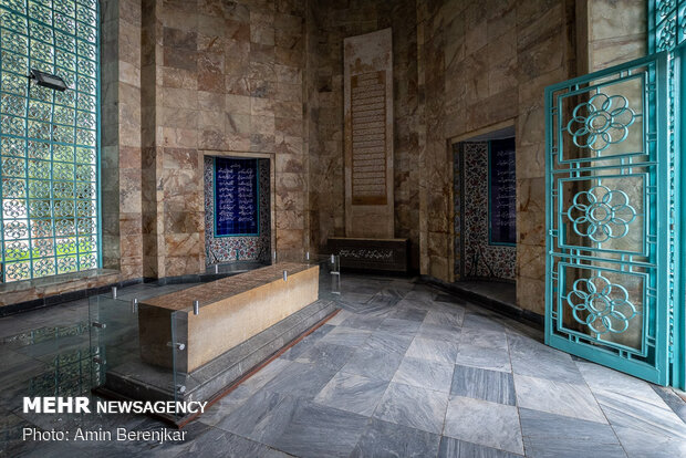 Empty mausoleum of Saadi Shiraz amid COVID-19 pandemic