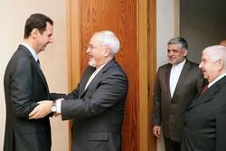 ظريف يبحث مع الرئيس السوري القضايا ذات الاهتمام المشترك