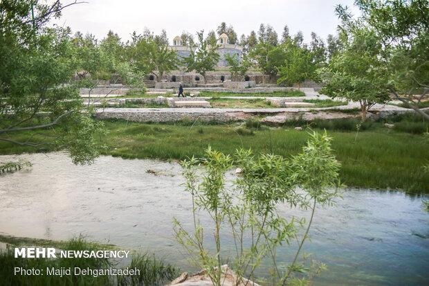 Historical Gharbalbiz Spring in Yazd