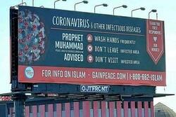 ABD'de salgına karşı Hz. Muhammed'in hadisleri panolarda yayınladı