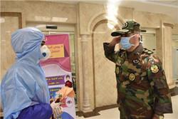ادای احترام مدافعان وطن به مدافعان سلامت در تربت حیدریه