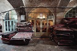Hamedan handmade carpet bazaar void of customers