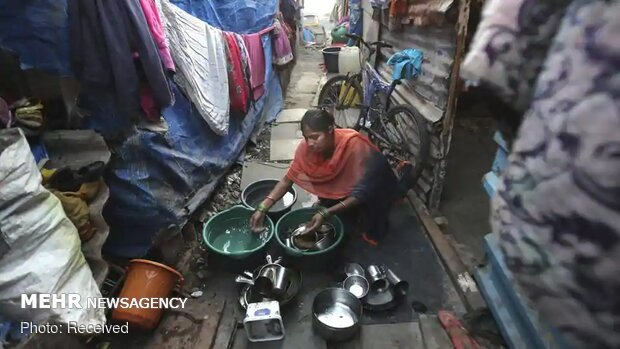 شیوع کرونا در بزرگترین محله فقیرنشین هند