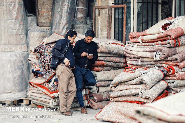 Capet market in Hamedan