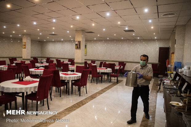 Empty hotel rooms in Iran under Covid-19 panemic